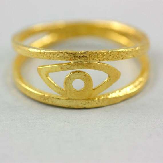 evil eye ring gold filled ring protection eye ring by