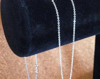 Fine silver delicate chain