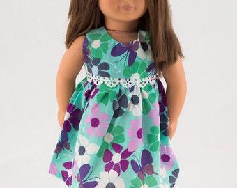 18 Inch Doll Dresses - American Girl Doll Dresses - 18 Inch Doll Dress - Green Doll Dress - 18 in Doll Dresses - Gift for Girls - Doll Dress