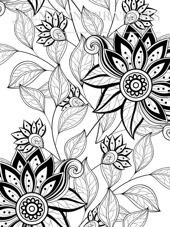 Adult Coloring Book, Printable Coloring Pages, Coloring Pages, Coloring Book for Adults, Instant Download, I love 70s 1 page 24