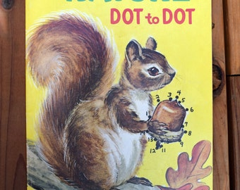 Nature Dot to Dot/Whitman Publishing/Florence Sarah Winship/1970's Children's Activity Book/Color and dot-to-dot book/unused vintage kids