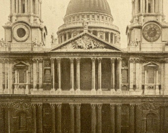 St. Paul's Cathedral London ENGLAND UK Sepia POSTCARD