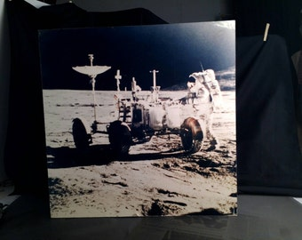 Vintage Lunar Landing Color Photo