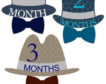 Baby Month Stickers Boy Month Stickers Bodysuit  Milestone Stickers Monthly Baby Stickers Photo Prop Sticker Month by Month Shower Gift