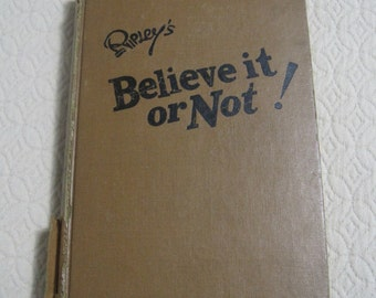 Ripley's Believe it or Not! 1946 Reprinted Edition, Vintage