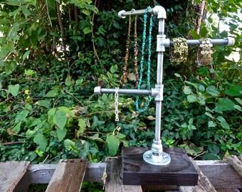Jewelry Stand. Industrial Jewelry Display Collar Rack. Pipe Jewelry Display. Jewelry Rack. Industrial Pipe Jewelry Stand. Pet Collar Display