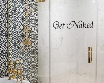Get Naked Tub/Shower/Mirror Decal Part 44