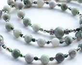 Serene Natural Peace Jade Gemstone Rosary, First Communion Gift for Boy or Girl, Irish, Confirmation Rosaries, RCIA Gifts