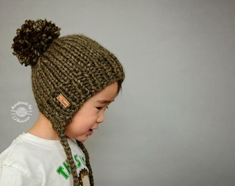 Chunky Knit Split Brim Beanie - Toddler/Young Child Size
