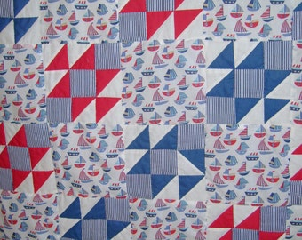 Nautical quilt in a bag