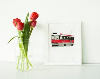 Toronto Streetcar Illustration (Original)