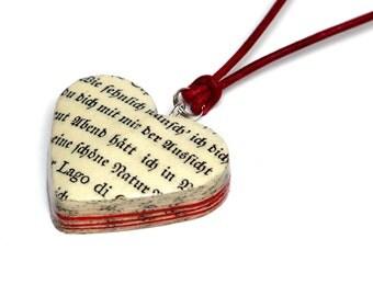 Heart pendant LOVE LETTER Goethe