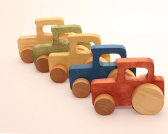 Wooden toy tractor | Toy tractor | Gift for a toddler | Toy on wheels | Gift for a boy