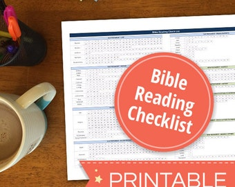 Bible Reading Checklist - Printable PDF - Instant Download