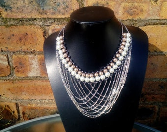 Bib style Necklace featuring Chain Detail