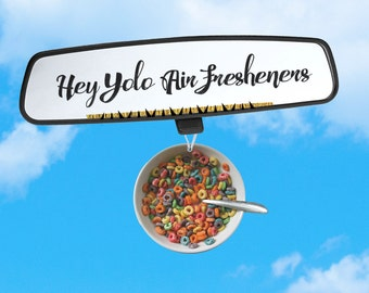 Fruit Loops Air Freshener - Car Freshener - Cereal Lovers - Yum Yum Scent