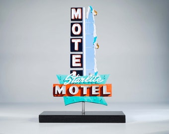 Starlite Motel Neon sign Photo / vintage neon sign / Motel sign / diving girls sign / route 66 sign / arizona sign / mid century modern