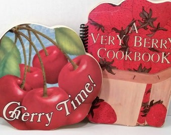 Set of 2 Vintage Michigan Cherry and Berry Cookbooks