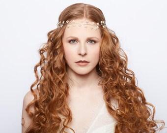 Bridal Hair Vine: Clover Halo
