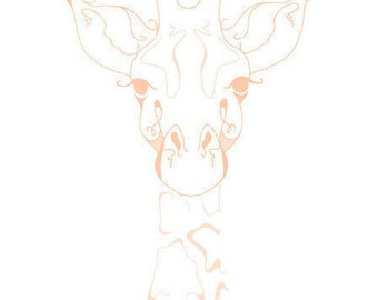 Giraffe Art Print // Rise Above // Giraffe Wall Decor // Nursery Animal Print // Giraffe Wall Art // Nursery Decor // Nursery Prints