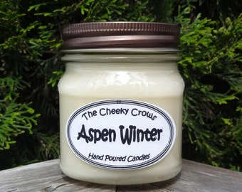 Aspen Winter Candle, Scented Candle, Christmas Tree Candle,Soy Candle, Soy Blend Candle, Winter Candle, Paraffin Candle, Balsam Candle