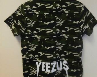Yeezus T Shirt Camo, Yeezy Tshirt Kanye West for President, Camouflage Yeezus Saint Pablo Tour T-Shirt, UNISEX Shirt Dress Camo