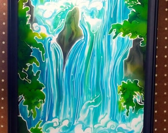 Waterfall - Silkpainting