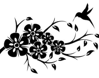 Floral Vinyl Decals