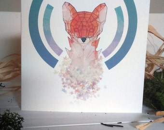 Geo-Fox Greeting Card