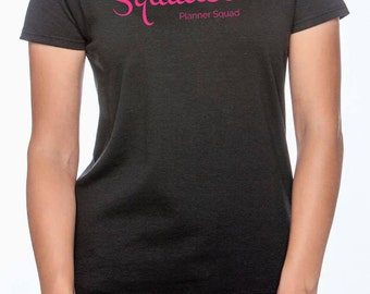 Squadette Womens Fit T-Shirt In Black or White, Sizes S,L,XL,2XL, and 3XL