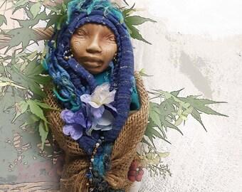 Ostara Spring Goddess, Spirit Art Doll Assemblage OOAK