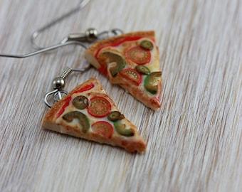 Veggies Pizza Earrings
