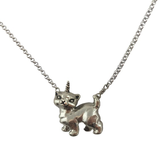 CATICORN NECKLACE cat kitten kitty silver gold jewelry