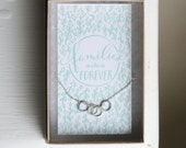 Families are Forever - Sterling Silver Circle Necklace