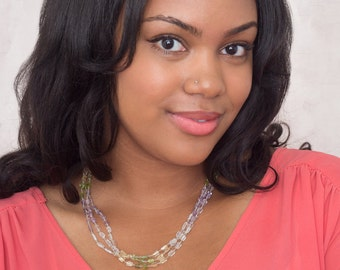 Pastel Stone Necklace