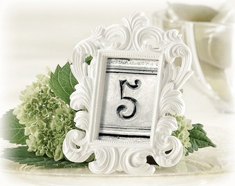 Vintage Table Numbers | Black and White Number Photos | 25 Wedding Numbers | Upcycle to Create First Anniversary Artwork (Set 3)