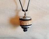 Black and Silver Cork Pendant