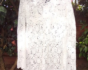 Diane VonFurstenberg Cotton lace beach cover up ( Sz 10 or one-size fits all)