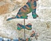 Dachshund Dog Garden Stake / Garden Art / Metal Yard Art / Copper Art / Pet Memorial / Wiener Dog / Outdoor / Artist Favorite