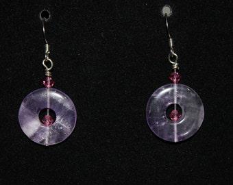 Amethyst and Crystal Earrings