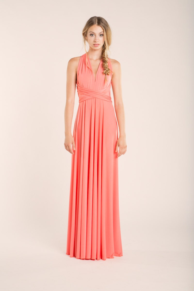 Salmon pink dress  Etsy
