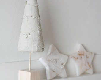 Natural Cone Tree - Christmas Tree - Mantel Decoration - Topiary Tree - Winter Home Decor
