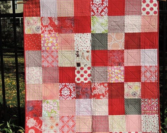 PInk and Red Baby Quilt