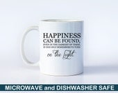 Harry Potter Mug | Happiness Can Be Found Even in the Darkest... | Dumbledore Mug | Hogwarts | Book Lovers | Harry Potter Coffee Cup | M45