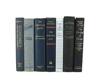 Vintage Blue   Decorative Books ,  vintage book , old book , vintage book bundle , photo prop , wedding decor , vintage book set,