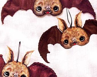 Halloween Bat Ornament - Halloween Decoration - Vampire Bat