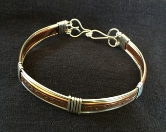 Unique Bracelet - Handcrafted in Sterling Silver & Copper Wire