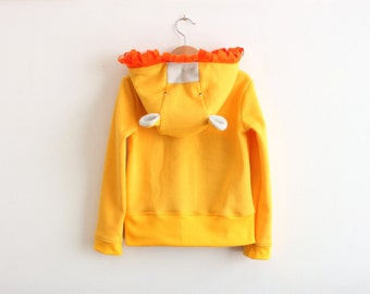 Baby hoodie, baby lion sweatshirt, lion cub, lion sweater, unisex baby clothes, baby halloween costume. Sustainable clothing, made in Italy