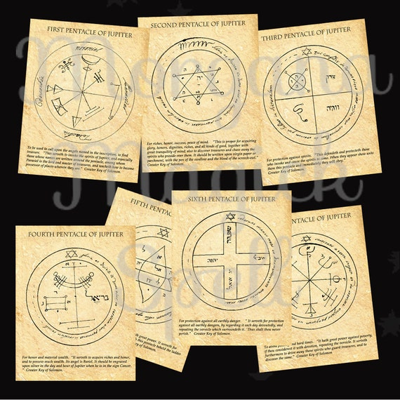 The JUPITER  PENTACLES of SOLOMON