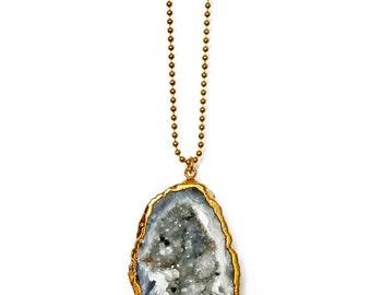 AGATE geode necklace - unique, ooak pieces